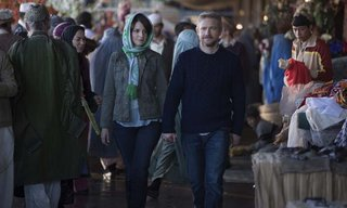 Left to right: Tina Fey plays Kim Baker and Martin Freeman plays Iain MacKelpie in Whiskey Tango Foxtrot from Paramount Pictures and Broadway Video/Little Stranger Productions in theatres March 4, 2016.