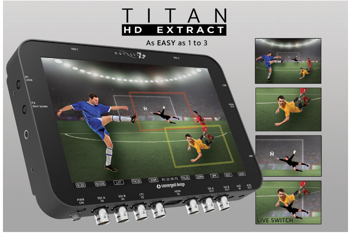 Titan: transform one 4K in three HD