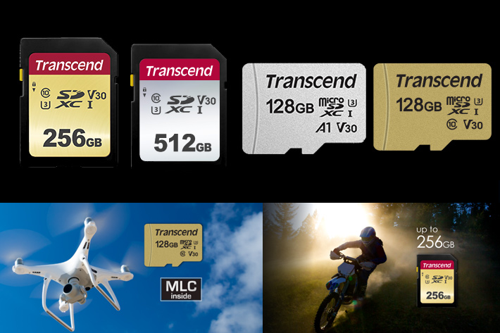 Transcend New 500s And 300s Memory Cards For Cameras