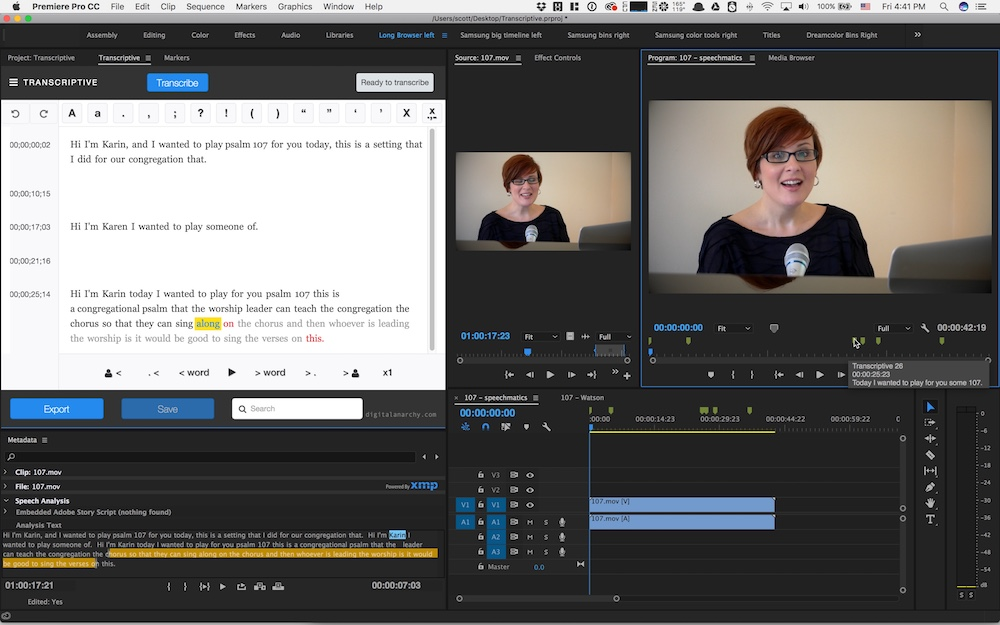 Review: Digital Anarchy Transcriptive - automated transcription for Adobe Premiere Pro 27