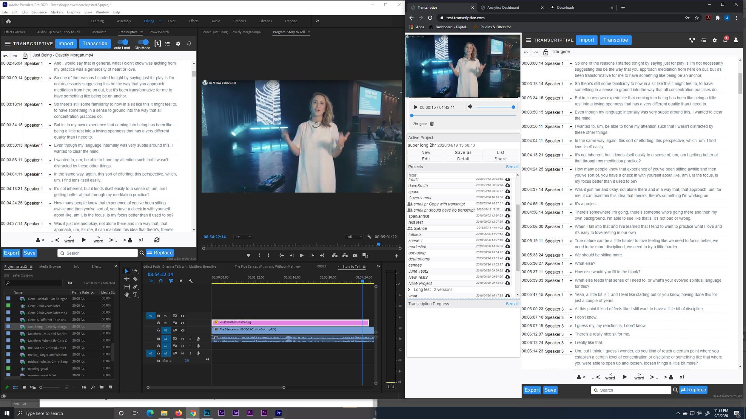 Transcriptive v2.5 arrives with updated plugin for Premiere Pro