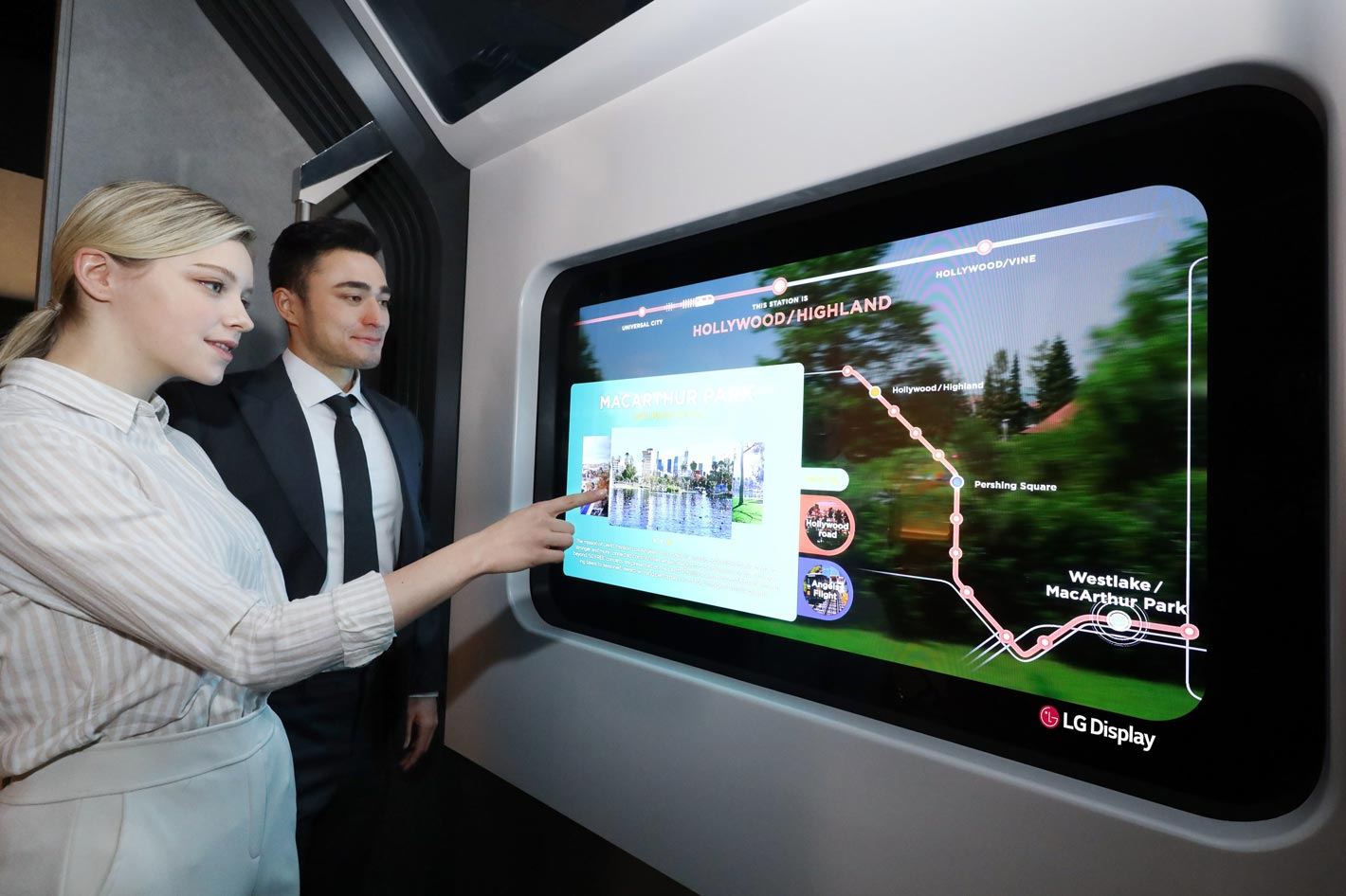 LG Display shows Transparent OLED display at CES 2021