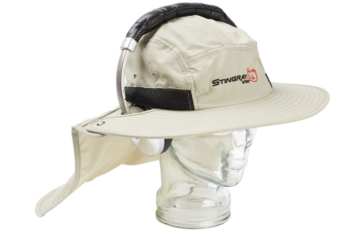 K-Tek's Stingray Audio SunHat, a special hat for sound recordists