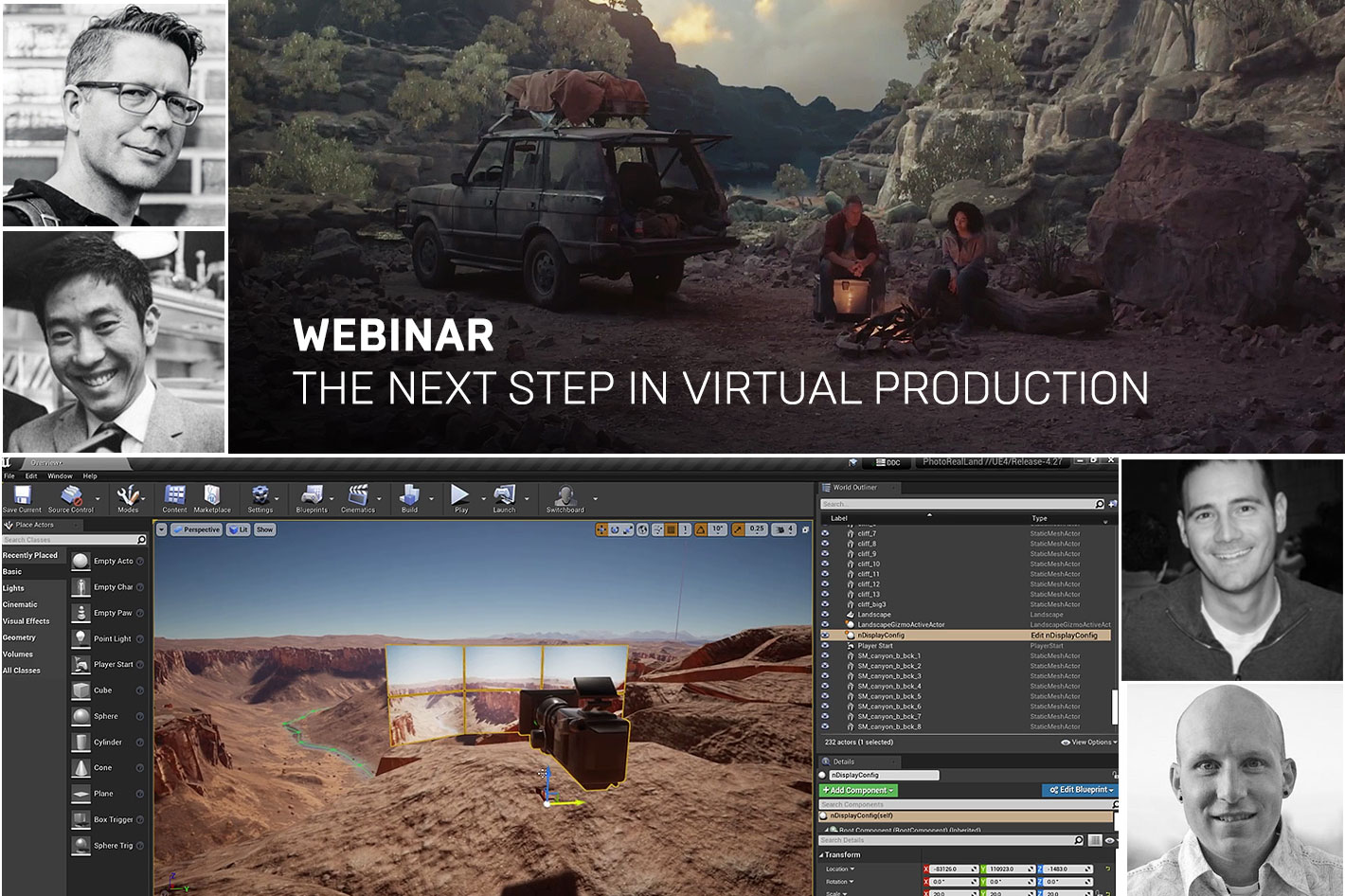 A free webinar from Epic Games: the next step in Virtual Production