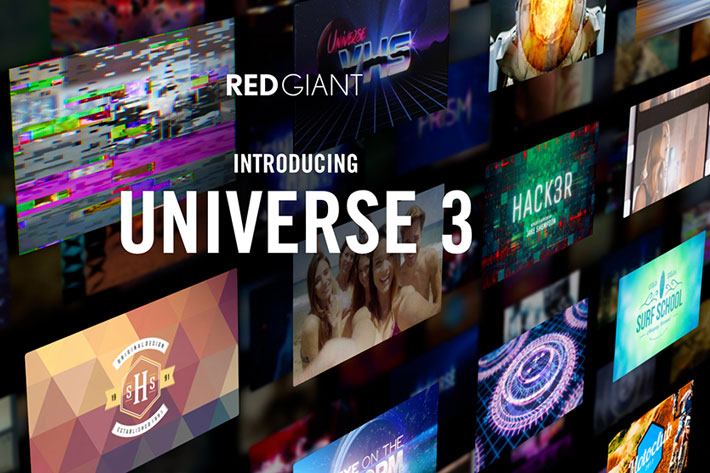 New Universe 3.0 features a dockable control board for Premiere and After Effects