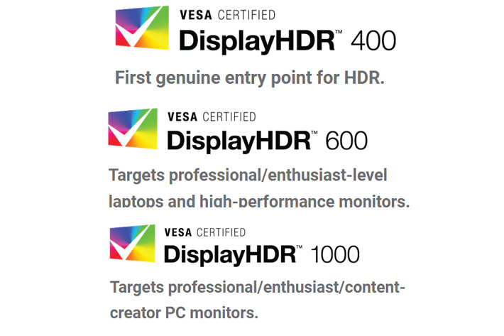 VESA defines HDR standard for displays