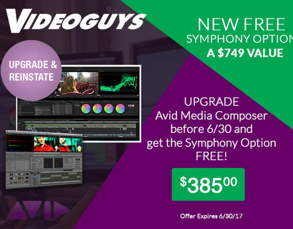 Upgrade Media Composer at Videoguys