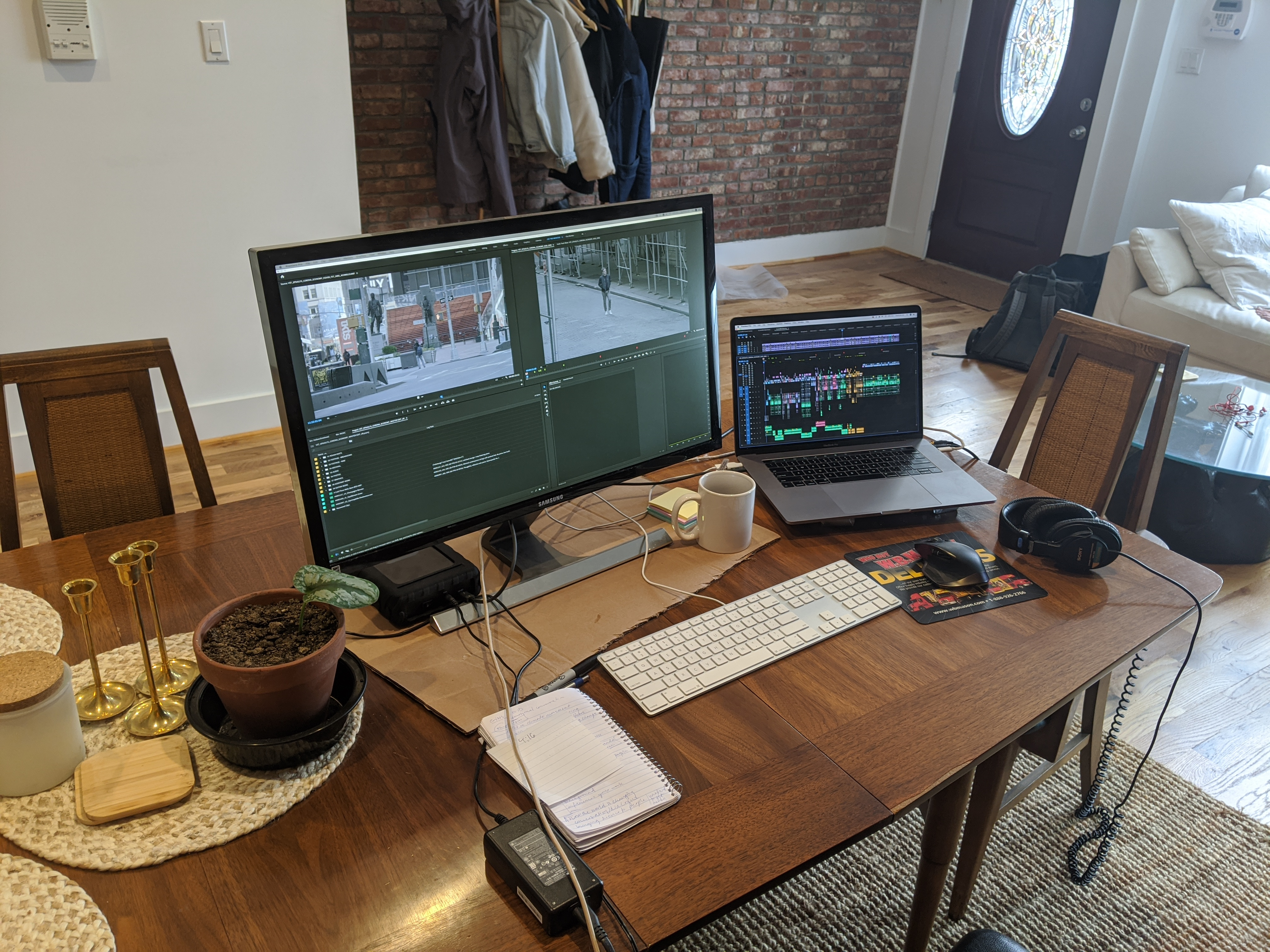 "Joe's Vice ""work from home"" set-up"