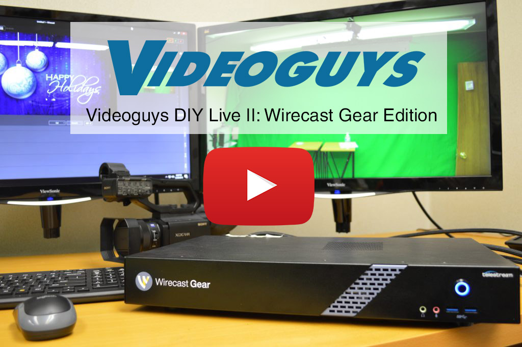how to set up a live production studio with wirecast gear