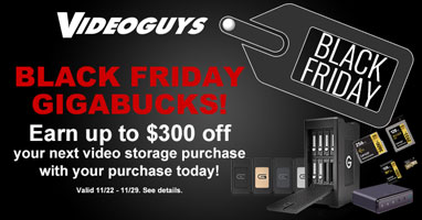 Videoguys Black Friday GIGABUCKS Specials