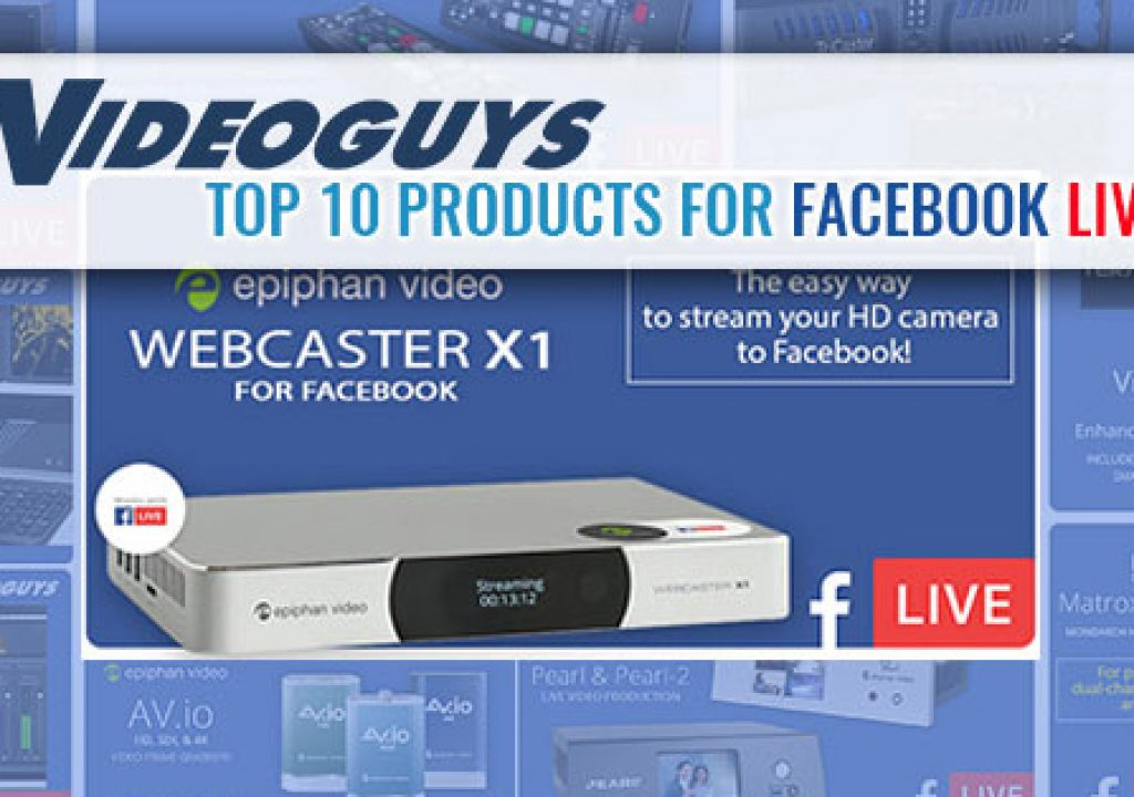 Top 10 Products for Facebook Live 1