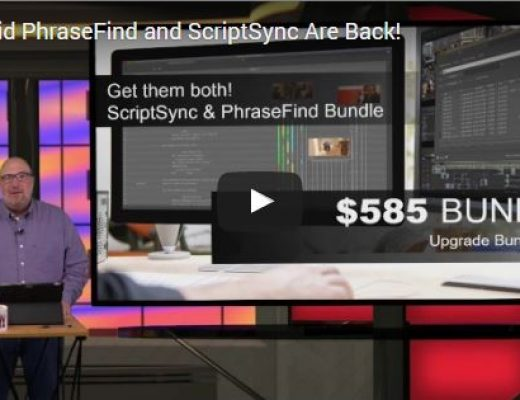 Videoguys' Video: Avid PhraseFind and ScriptSync are Back! 2