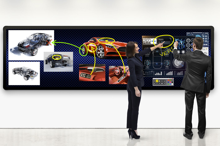 Leyard, a LED touch-enabled video wall