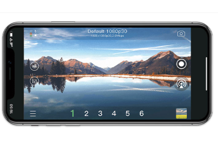VidiMo: live video production solution with a smartphone and a video camera 1