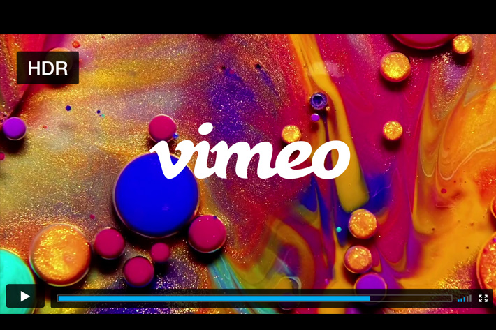 Vimeo: HDR has arrived