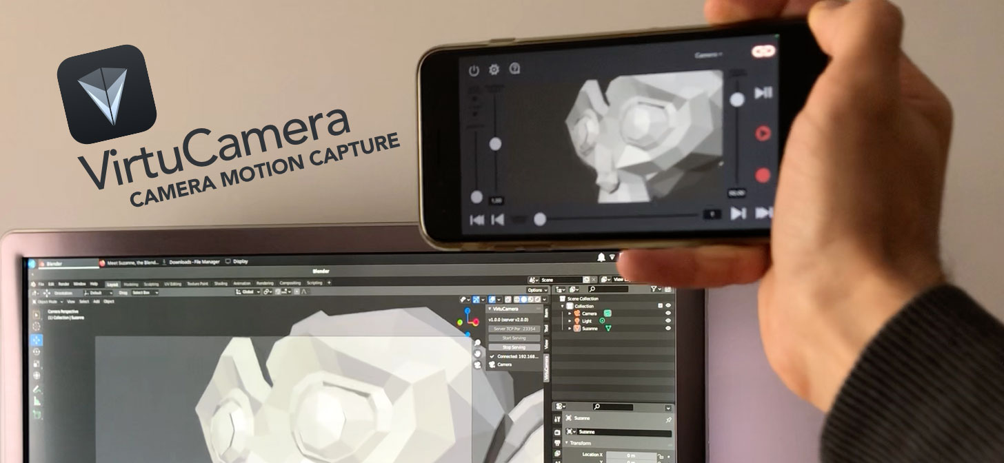 VirtuCamera for Blender, mocap with your iOS device