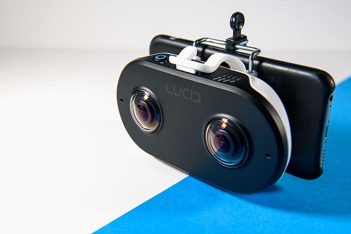 LucidCam, a stereoscopic 3D 180 camera