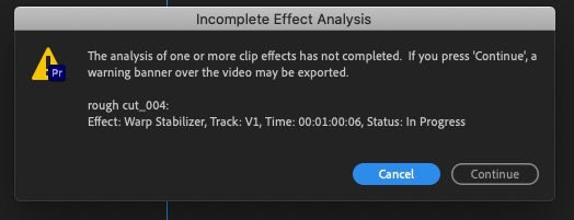 Dear Adobe, Blackmagic and other post-production software makers, don't export on-screen error messages and watermarks 9