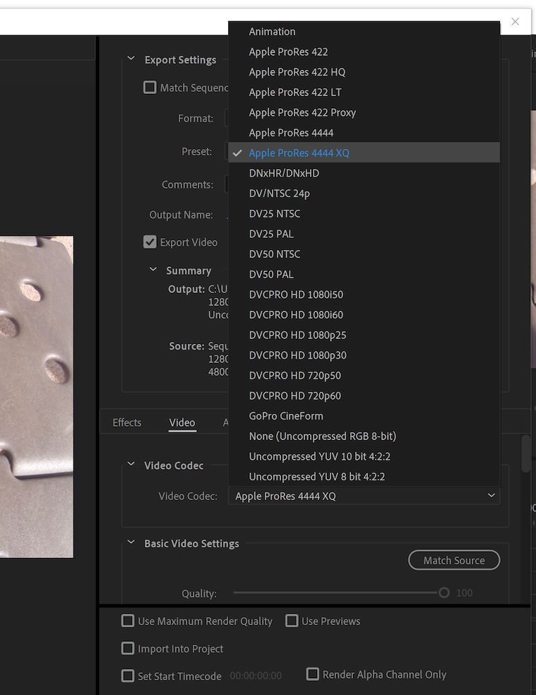 Adobe adds ProRes export support on Windows in the latest