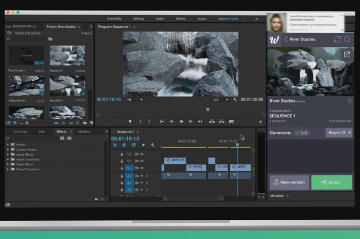 Wipster Review Panel for Adobe After Effects