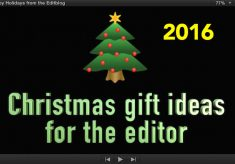 Christmas gift ideas for the editor – 2016 edition
