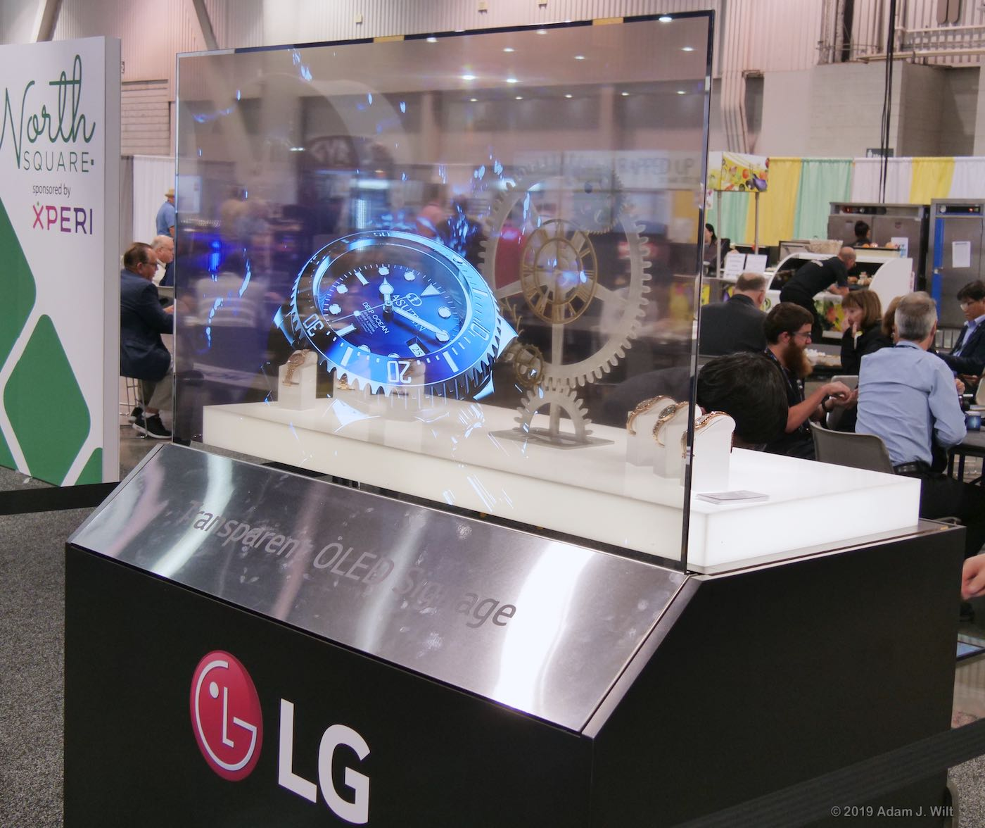 LG Transparent OLED display