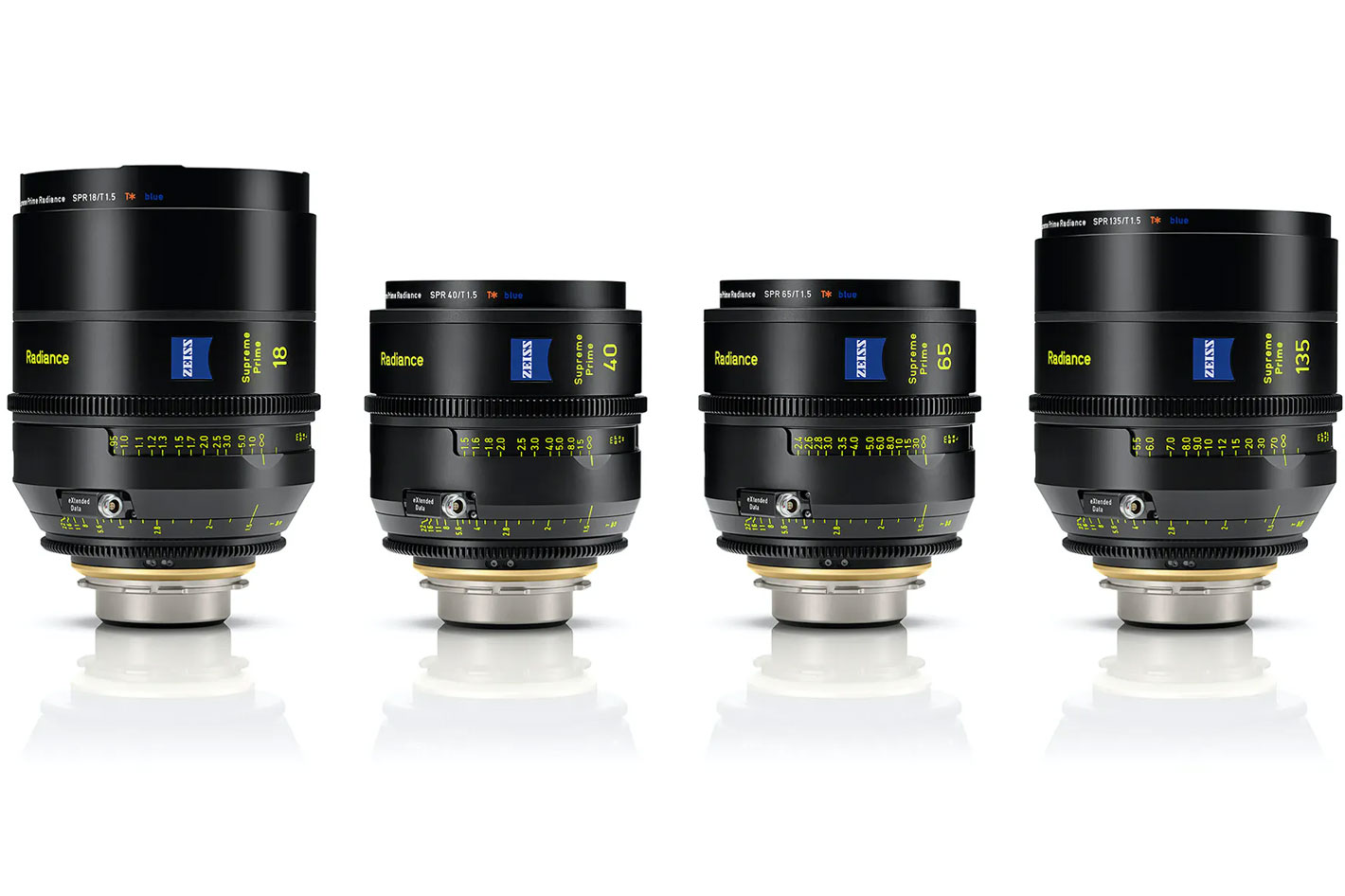 ZEISS introduces four new Supreme Prime Radiance lenses
