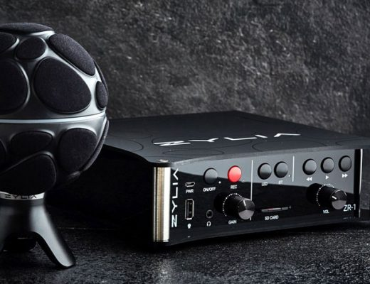 ZYLIA ZR-1: a portable recorder for 360-degree sound recording